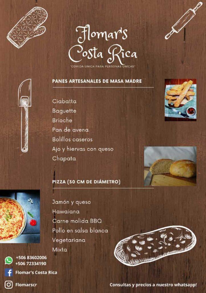 Flomar's Costa Rica Restaurant menu